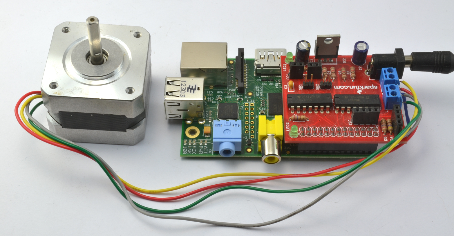 Razzpisampler for Controlling a stepper motor
